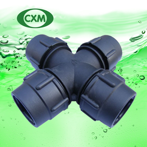 PP Cross Tee Compression Fittings