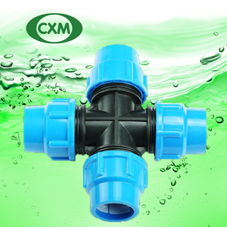 PP Cross Tee Compression Fittings PN6
