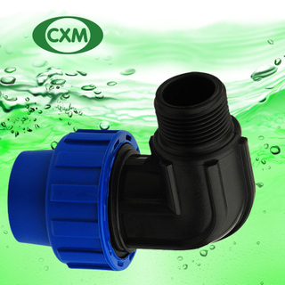 PP male threaded elbow PP1007